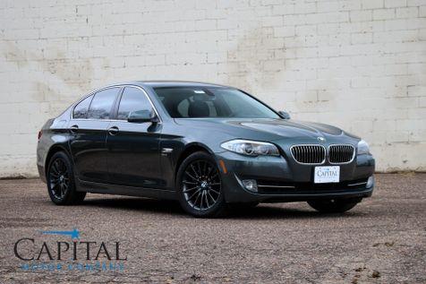 2011 BMW 535xi xDrive AWD Executive Car w/Heated Seats, Navigation, Moonroof, Xenons and Gunmetal Wheels in Eau Claire