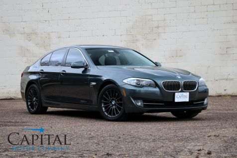 2011 BMW 535xi xDrive AWD Executive Car w/Heated Seats, Navigation, Moonroof, Xenons and Gunmetal Wheels in Eau Claire