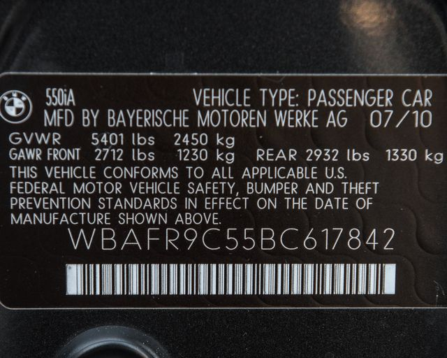 2011 BMW 550i Burbank, CA 36