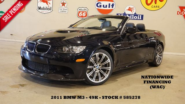 2011 BMW M3 CONV. PWR TOP,NAV,HTD LTH,19IN WHLS,49K,WE FINANCE