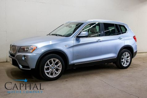 2011 BMW X3 xDrive35i AWD Crossover w/Sport Pkg, Heated F/R Seats, Panoramic Roof, Bluetooth Audio & 18