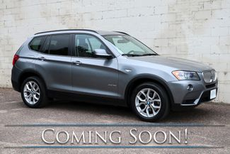 2011 BMW X3 xDrive35i Sport Crossover w/Technology Pkg, Nav, Panoramic Moonroof, Premium Audio & Tow Pkg in Eau Claire, Wisconsin 54703