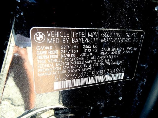 2011 BMW X3 xDrive35i 35i Madison, NC 52