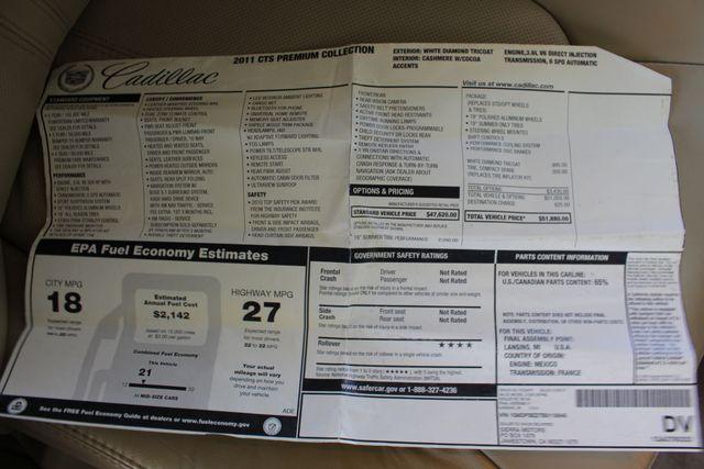 2011 Cadillac CTS Sedan Premium RWD - PERFORMANCE PKG - NAV - SUNROOFS! Mooresville , NC 6