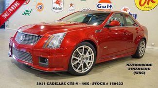 2011 Cadillac CTS-V Sedan ULTRA ROOF,NAV,BACK-UP,RECARO,POLISHED WHLS,46K! in Carrollton TX, 75006