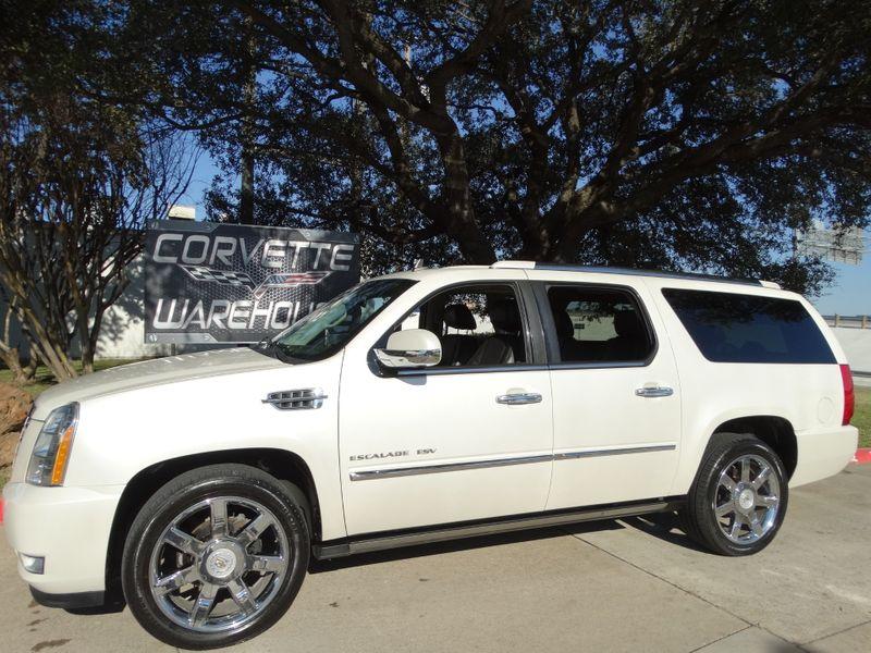 2011 Cadillac Escalade ESV Premium Rear Ent, Step Rails, NAV, Sunroof, Chromes!! | Dallas, Texas | Corvette Warehouse