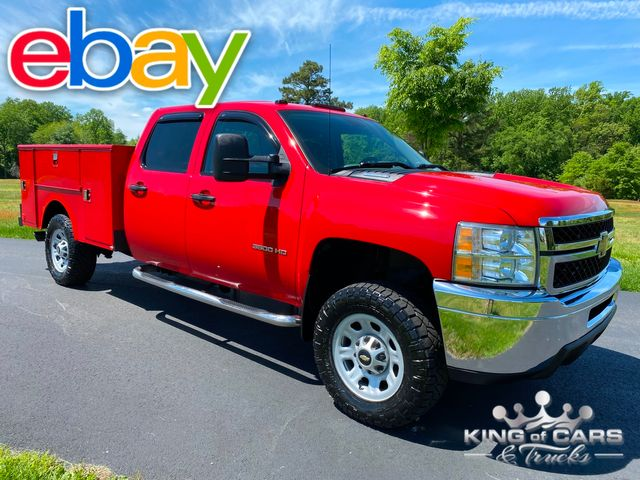 2011 Chevrolet 3500hd Crew 4X4 6.6 DURAMAX DIESEL W/T UTILITY 1-OWNER LOW MILES