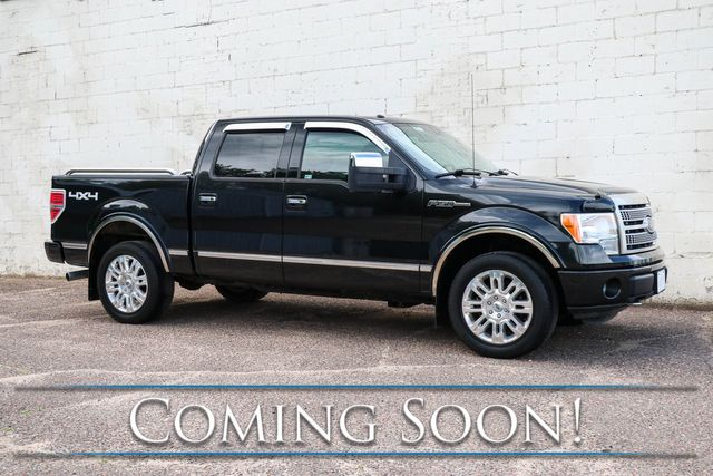 2011 Ford F-150 Platinum Crew Cab 4x4 w/411hp 6.2L V8, Nav, Backup Cam, Heated/Cooled Seats & Sony Audio