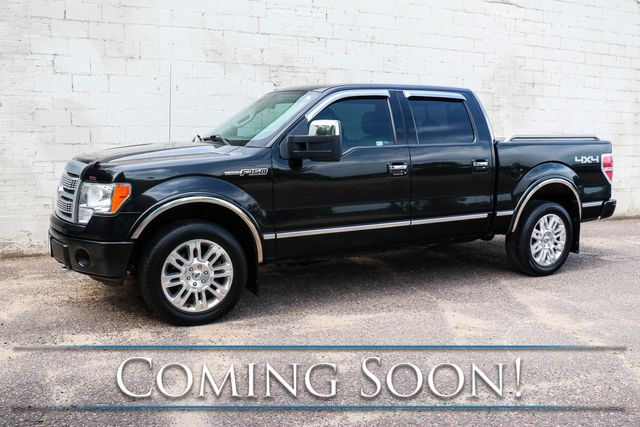2011 Ford F-150 Platinum Crew Cab 4x4 w/411hp 6.2L V8, Nav, Backup Cam, Heated/Cooled Seats & Sony Audio in Eau Claire, Wisconsin 54703