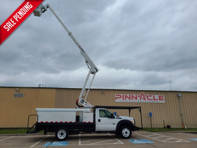 2011 Ford F-550 4X4 FLATBED 43' CAGED BUCKET TRUCK XL 4X4 6.7 DEISELHI RANGER LT38 in Irving, TX 75039
