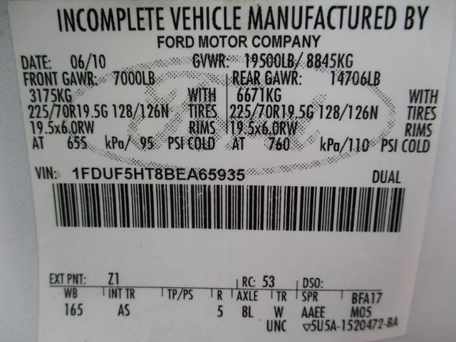 2011 Ford  F-550 4X4 IMT CRANE TRUCK 6.7 DIESEL Lake In The Hills, IL 38