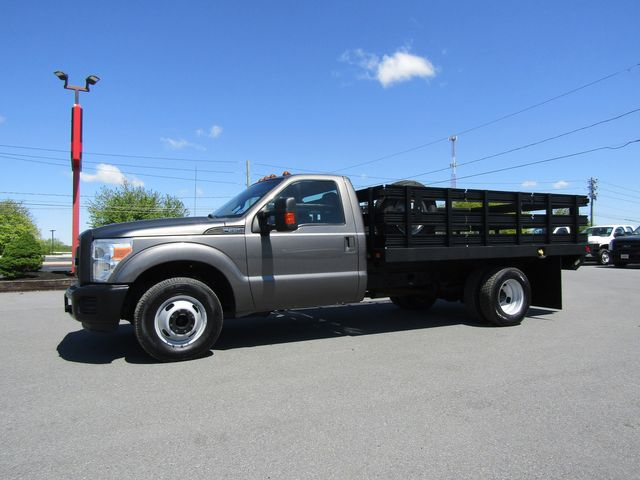 2011 Ford F350 12' Flatbed Stake Truck 2wd with Lift Gate
