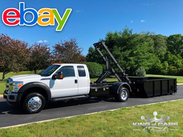 2011 Ford F450 6.8l V10 4x4 XLT EXT CAB SWITCH & GO DUMP DUMPSTER CAN 78K MILES