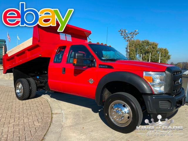 2011 Ford F550 4x4 Ext Cab 6.7L DIESEL MASON DUMP ONLY 56K MILES WOW