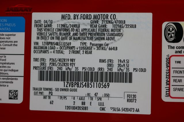 2011 Ford Mustang GT500 Merrillville, Indiana 44