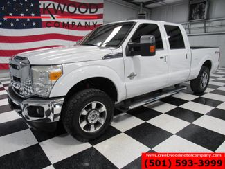 2011 Ford Super Duty F-250 Lariat 4x4 Diesel Chrome Sunroof Leather White in Searcy, AR 72143