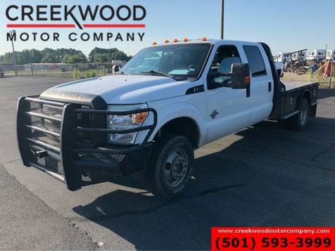 2011 Ford Super Duty F-350 XLT 4x4 Diesel Dually Flatbed White New Tires in Searcy, AR