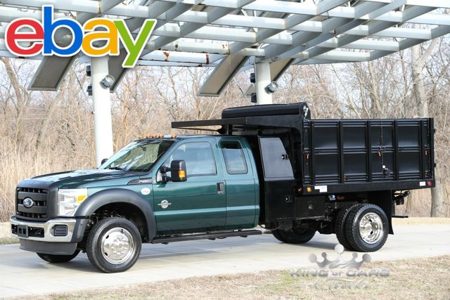 2011 Ford Super Duty F-550 DRW Chassis Cab 6.7 DIESEL L-PACK LANDSCAPE 4X4 DUMP LOW MILES!!