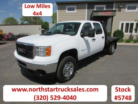 2011 GMC 2500HD 4x4 Crew-Cab Flatbed Truck  in St Cloud, MN