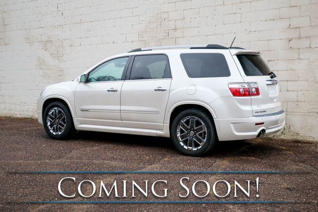 2011 GMC Acadia Denali Luxury SUV w/Nav, Dual Screen DVD Entertainment, Backup Cam & Heated/Cooled Seats in Eau Claire, Wisconsin 54703