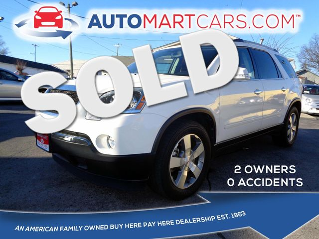 2011 GMC Acadia SLT1 | Nashville, Tennessee | Auto Mart Used Cars Inc. in Nashville Tennessee