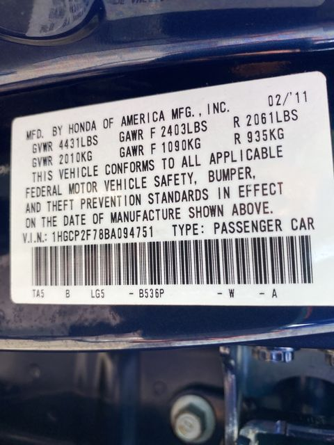 2011 Honda Accord EX Madison, NC 36