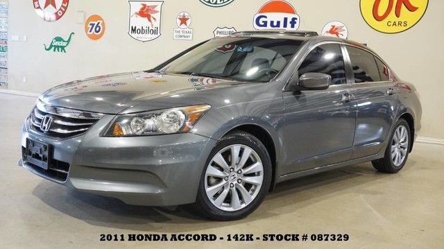 2011 Honda Accord Sdn EX-L SUNROOF,HEATED LEATHER,6 DISK CD,17IN WHLS...