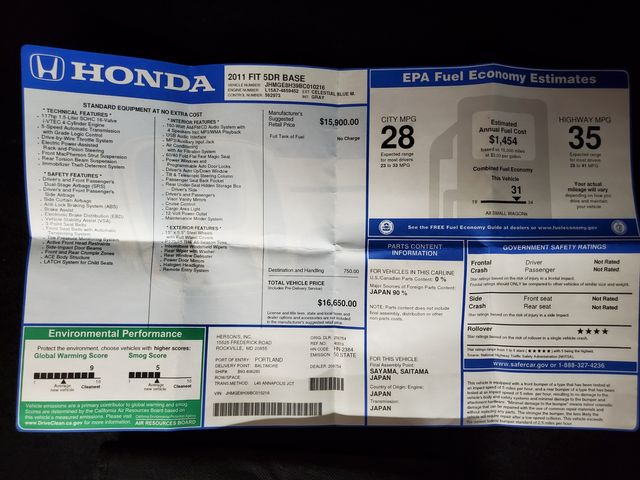 2011 Honda Fit Kensington, Maryland 69