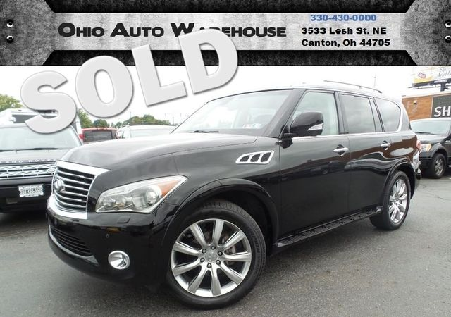 2011 Infiniti QX56 4x4 Navi 3rd Row Sunroof Clean Carfax We Finance | Canton, Ohio | Ohio Auto Warehouse LLC in Canton Ohio