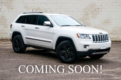 2011 Jeep Grand Cherokee Overland 4x4 w/ Nav, Panoramic  Moonroof, Heated/Cooled Seats, Tow Pkg, Backup Cam in Eau Claire