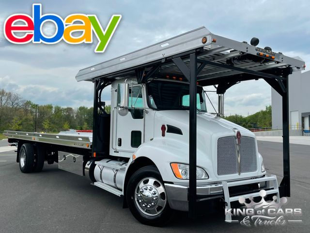 2011 Kenworth T370 4-CAR ROLLBACK WITH WRECKER ONE OWNER MINT in Woodbury, New Jersey 08093