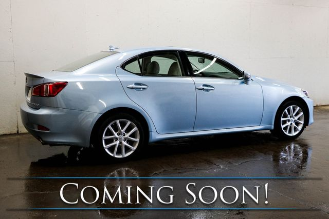 2011 Lexus IS250 AWD Luxury-Sports Car w/Navigation, Backup Cam, Heated/Cooled Seats & 13-Speaker Audio in Eau Claire, Wisconsin 54703