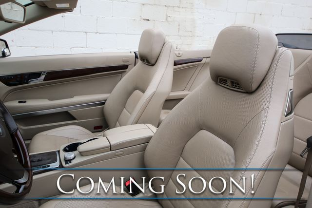 2011 Mercedes-Benz E550 Cabriolet w/Power Convertible Top, Heated/Cooled Seats with Neck Scarf & H/K Audio in Eau Claire, Wisconsin 54703