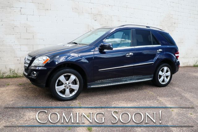 2011 Mercedes-Benz ML350 4Matic AWD Luxury SUV w/Nav, Backup Cam, Moonroof, Keyless Go, Premium Audio & Tow Pkg in Eau Claire, Wisconsin 54703