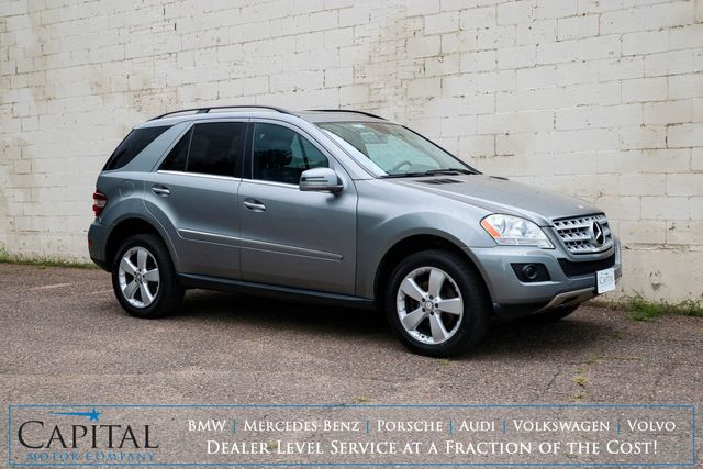 2011 Mercedes-Benz ML350 4Matic AWD Luxury SUV w/Navigation, Backup Cam, Heated Seats, Bluetooth and Tow Pkg