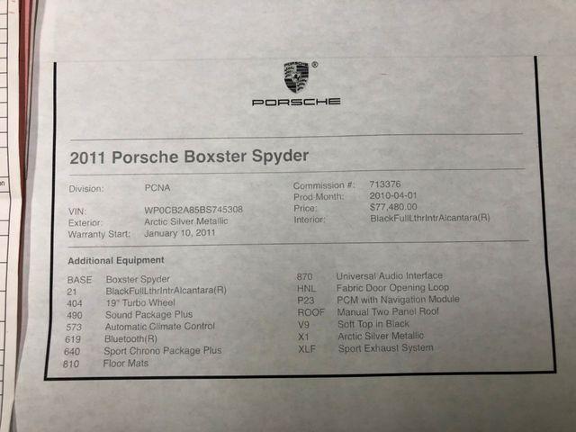 2011 Porsche Boxster Spyder Longwood, FL 40