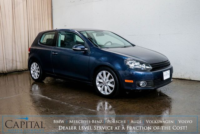 2011 Volkswagen Golf TDI Clean Diesel Hatchback w/6-Speed Manual, Premium Audio, Sport Seats and Gets 40+ MPG