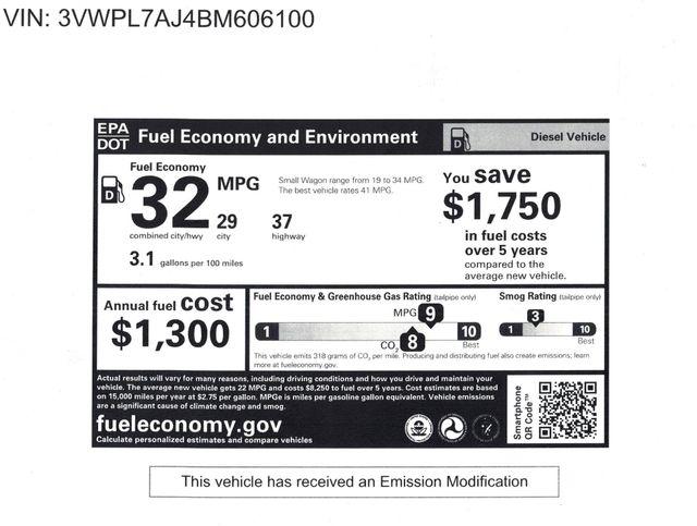2011 Volkswagen Jetta TDI 3 MONTH/3,000 MILE NATIONAL POWERTRAIN WARRANTY Mesa, Arizona 20