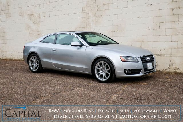 2012 Audi A5 Premium Plus 2.0T Quattro AWD Coupe with Panoramic Roof, Heated Seats & 10-Speaker Audio in Eau Claire, Wisconsin 54703