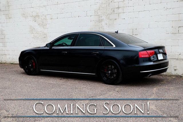 2012 Audi A8 L Quattro AWD Sedan w/Nav, Backup Cam, Heated Steering Wheel & Dual-Moonroof in Eau Claire, Wisconsin 54703