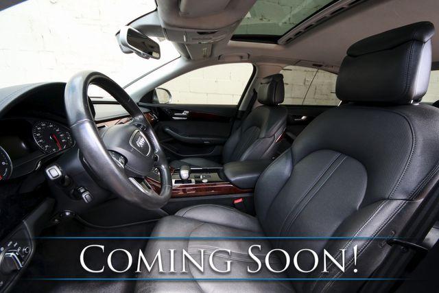 "2012 Audi A8 L Quattro AWD V8 Executive Sedan with Adaptive Cruise, Nav, LED Lights & 20"" Wheels in Eau Claire, Wisconsin 54703"