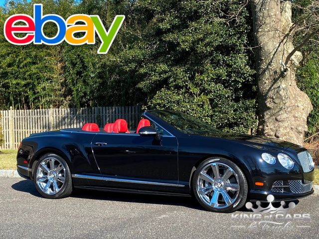 2012 Bentley Continental Gtc CONVERTIBLE 12K MILES W12 TWIN TURBO RED INTERIOR MULLINER