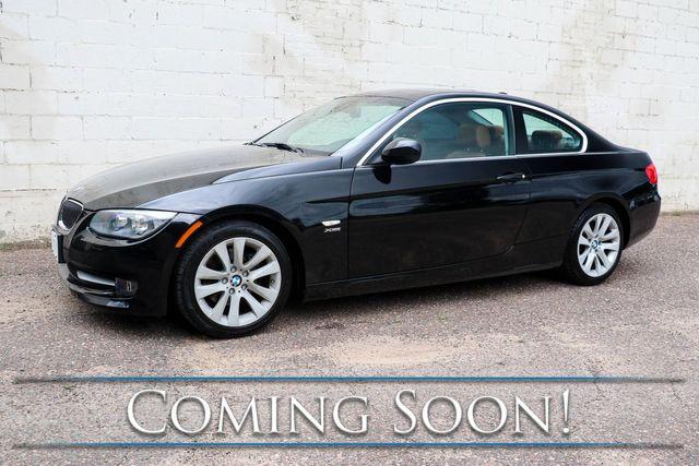 2012 BMW 328xi xDrive AWD Coupe w/Moonroof, Heated Seats, 2-Tone Saddle Interior & HiFi Audio