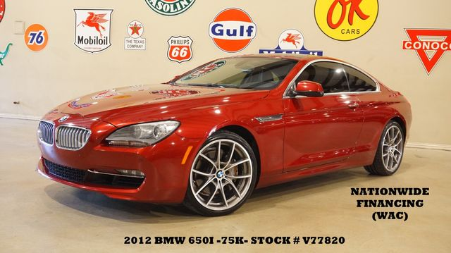2012 BMW 650i Coupe AUTO,ROOF,NAV,BACK-UP,HTD/COOL LTH,20'S,75K