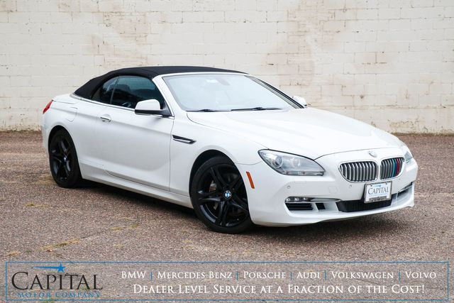 2012 BMW 650i Convertible w/Power Folding Top, Nav, Backup Cam, Heated/Cooled Seats and Premium Audio in Eau Claire, Wisconsin 54703
