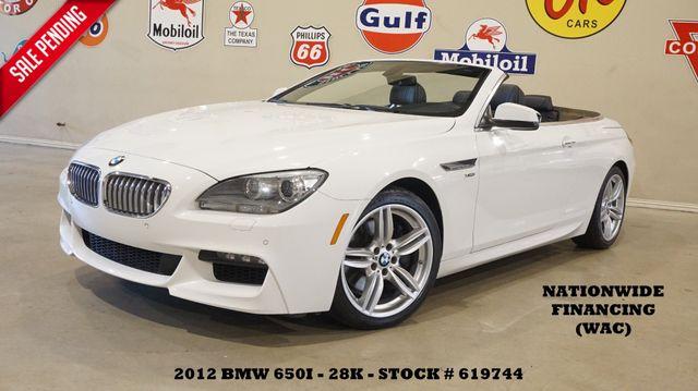 2012 BMW 650i xDrive Conv. M SPORT PKG,NAV,BACK-UP,HTD/COOL LTH,28K