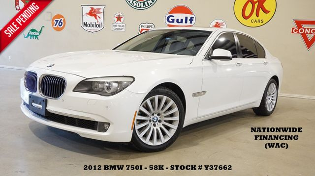 2012 BMW 750i Sedan SUNROOF,NAV,BACK-UP CAM,HTD/COOL LTH,58K