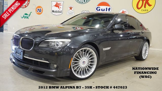 2012 BMW ALPINA B7 SWB HUD,ROOF,NAV,REAR DVD,F&TOP CAM,HTD/COOL LTH,35K!
