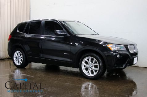 2012 BMW X3 xDrive35i AWD Turbo Crossover w/Tech Pkg, Navigation, Heated F/R Seats & Bluetooth Audio in Eau Claire