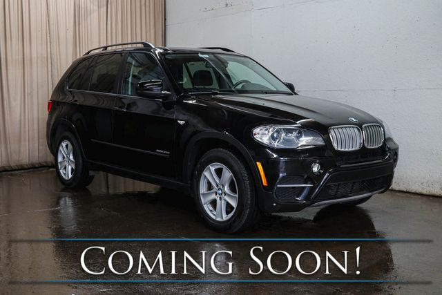 2012 BMW X5 xDrive35d AWD Clean Diesel w/Navigation, Backup Cam, Heated Seats & Panoramic Moonroof